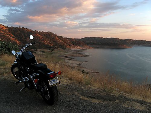 Honda Shadow at Millerton Lake