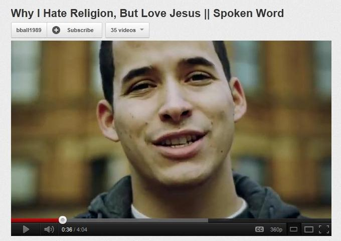 Why I Hate Religion